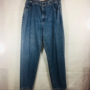 Vintage Lee Mom Jeans with Elastic Sides